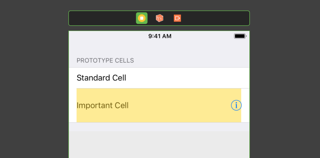 Binding to a table view with multiple cells and sections